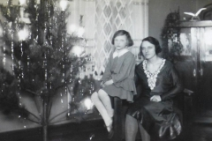 Mom and Grandmother on Christmas in Russia