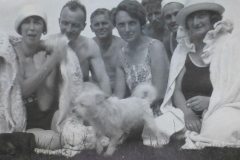 On the beach in Russia - Grandmother in the middle