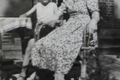 Grandmother and Klaus in Berlin-Gruenau 1940