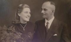 Wedding 1943 Ilse and Ehrenfried Haubold