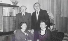 Mom, dad, Annemarie and Kurt Menge 1957